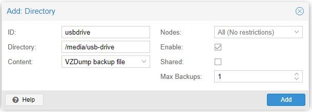 Proxmox Max Backups